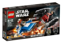 LEGO Star Wars: A-Wing vs. TIE Silencer - Microfighters Set (75196)