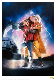 Back to the Future: Premium Art Print - 2nd Movie Poster image