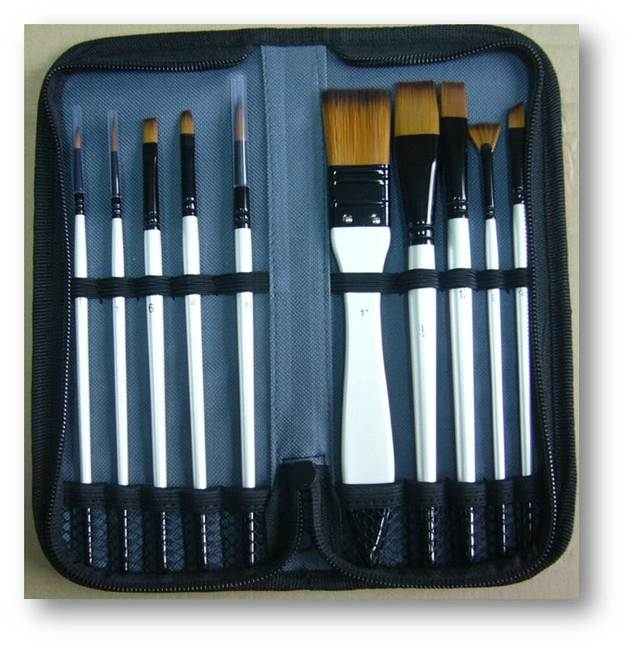 Jasart Short Handle Brush Wallet Set (10pc)