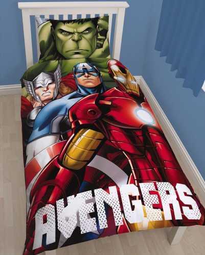 Marvel Avengers Shield Reversible Duvet Set - Single image