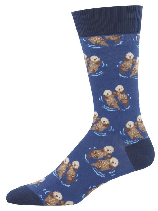 Socksmith: Men's Significant Otter Crew Socks - Blue