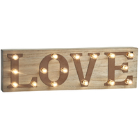 Retro Illuminated Sign - Love