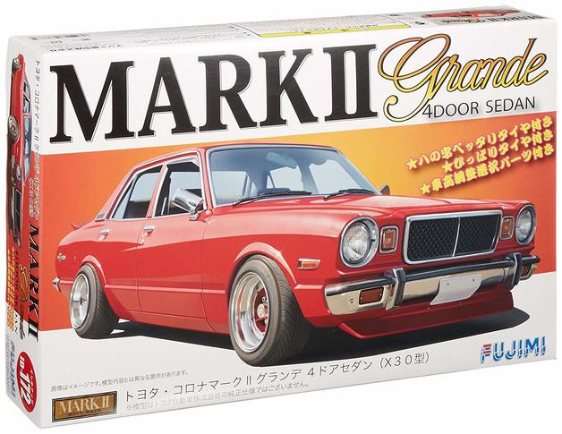Fujimi 1/24 Toyota Carona Mark II Grand 4 Door Sedan - Model Kit