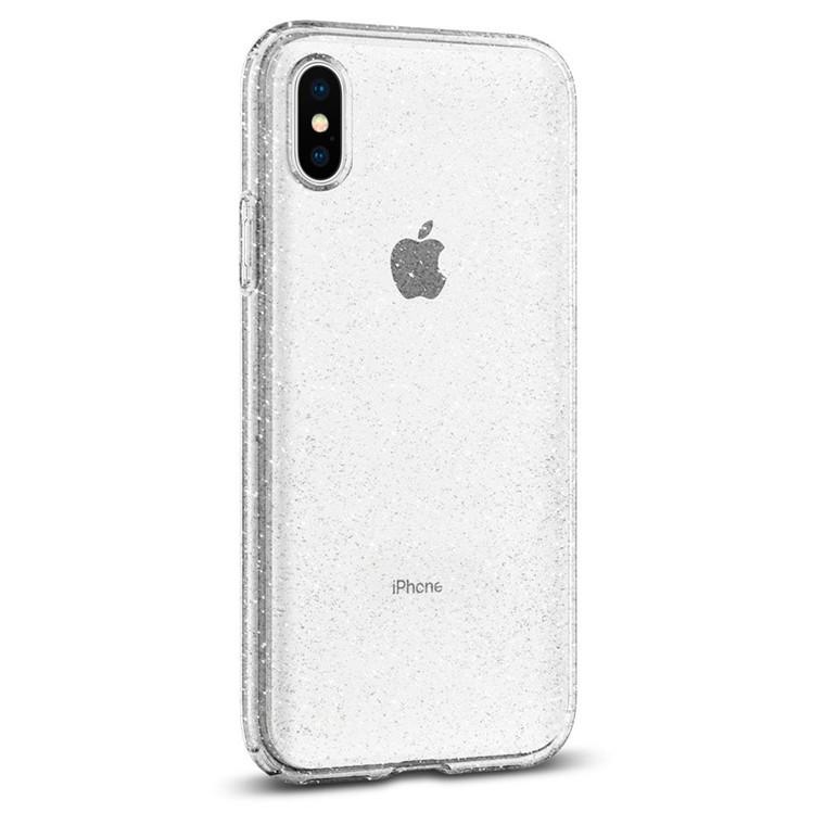 new concept 33ac4 c403d Spigen: Liquid Crystal Glitter Case for iPhone XS - Crystal Quartz