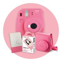 Instax Mini 9 Gift Pack - Flamingo Pink