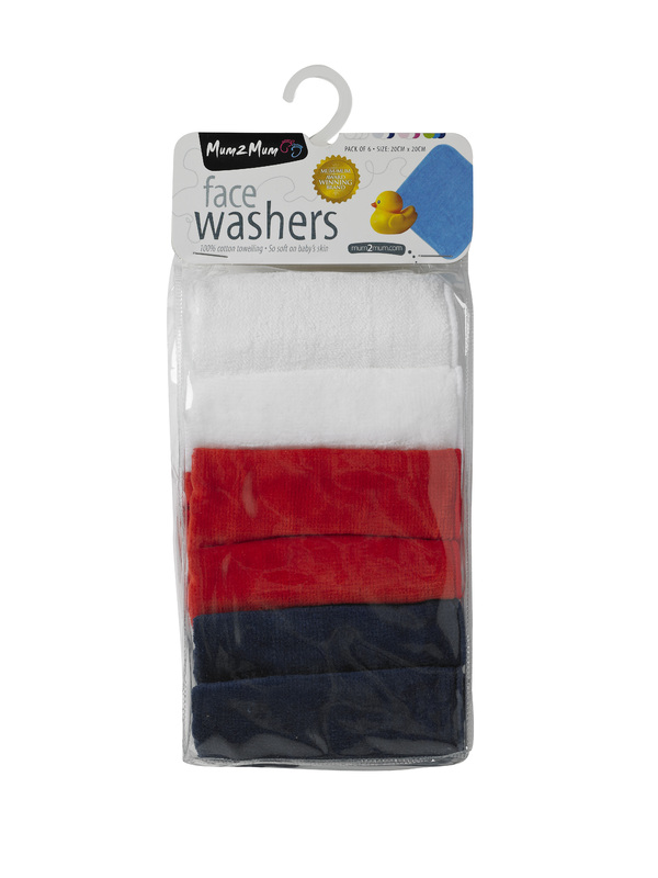 Mum 2 Mum Face Washer - Flag Pack (6 Pack)