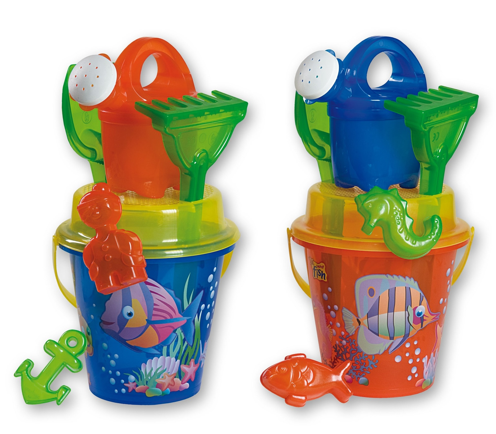 Androni: Transparent Crazy Fish - Large Bucket Set image