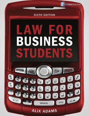 Law for Business Students by Alix Adams image