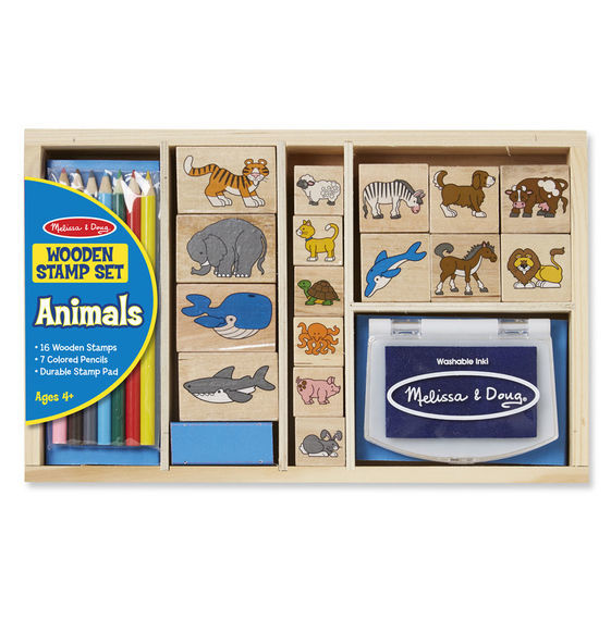 Melissa & Doug: Animals Wooden Stamp Set