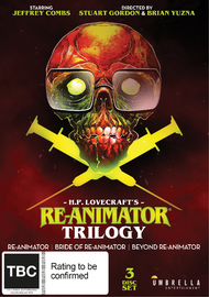Re-Animator / Bride of Re-Animator / Beyond Re-Animator on DVD