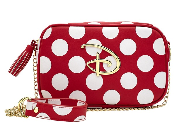 Loungefly: Disney Logo Polka Dot Crossbody Bag