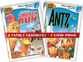 Antz and Chicken Run on DVD