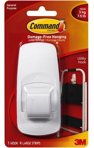Command Jumbo Hook - White (Single Hook)