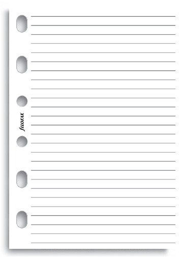 Filofax - Pocket Lined Notepaper - White (25 Sheets)