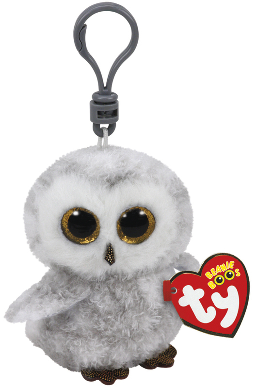 Ty Beanie Boos: Owlette Owl - Clip On Plush