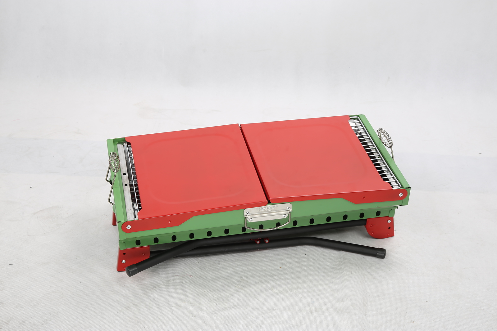 Portable Charcoal BBQ Grill (Red/Green) image