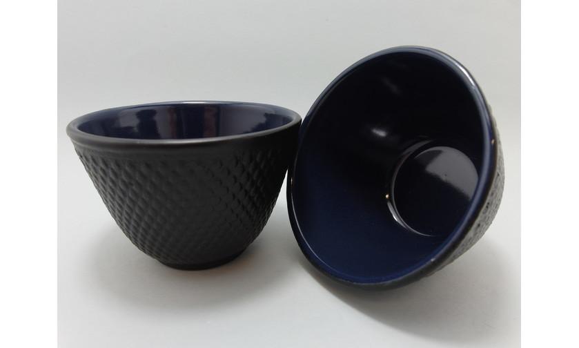 Cast Iron Tea Cup Black Hobnail - Set of 2 image