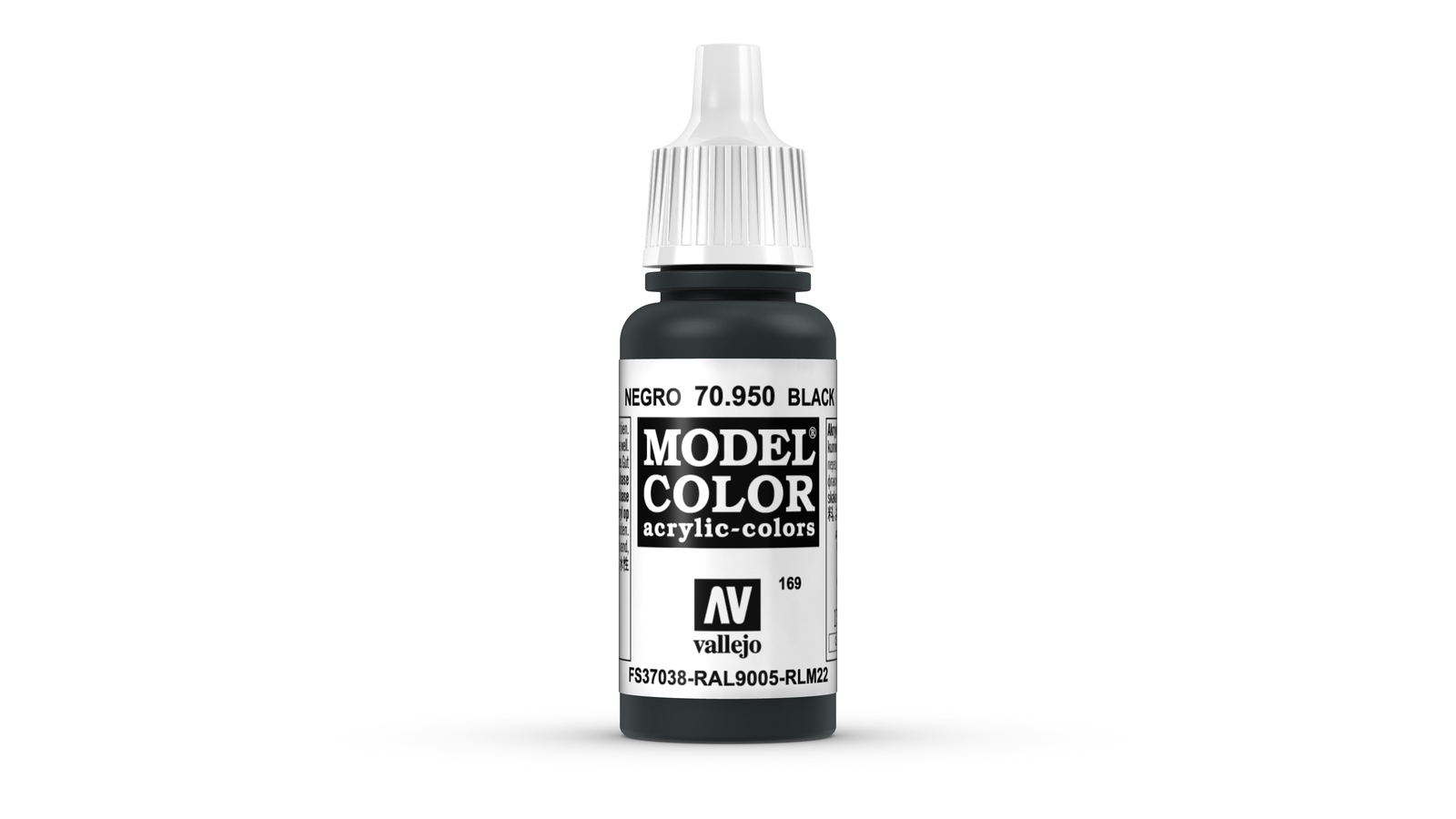 Vallejo Model Colour Black 17ml image