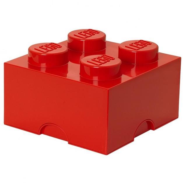 LEGO Movie 2: Storage Brick 4 (Bright Red)