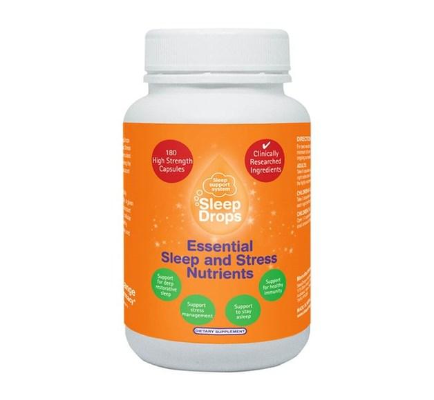 SleepDrops Essential Sleep + Stress Nutrient Capsules (90)