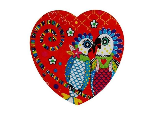 Maxwell & Williams: Love Hearts Ceramic Heart Coaster - Fan Club