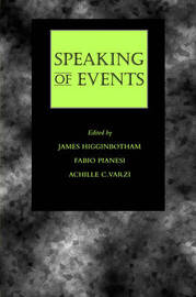 Speaking of Events by James Higginbotham