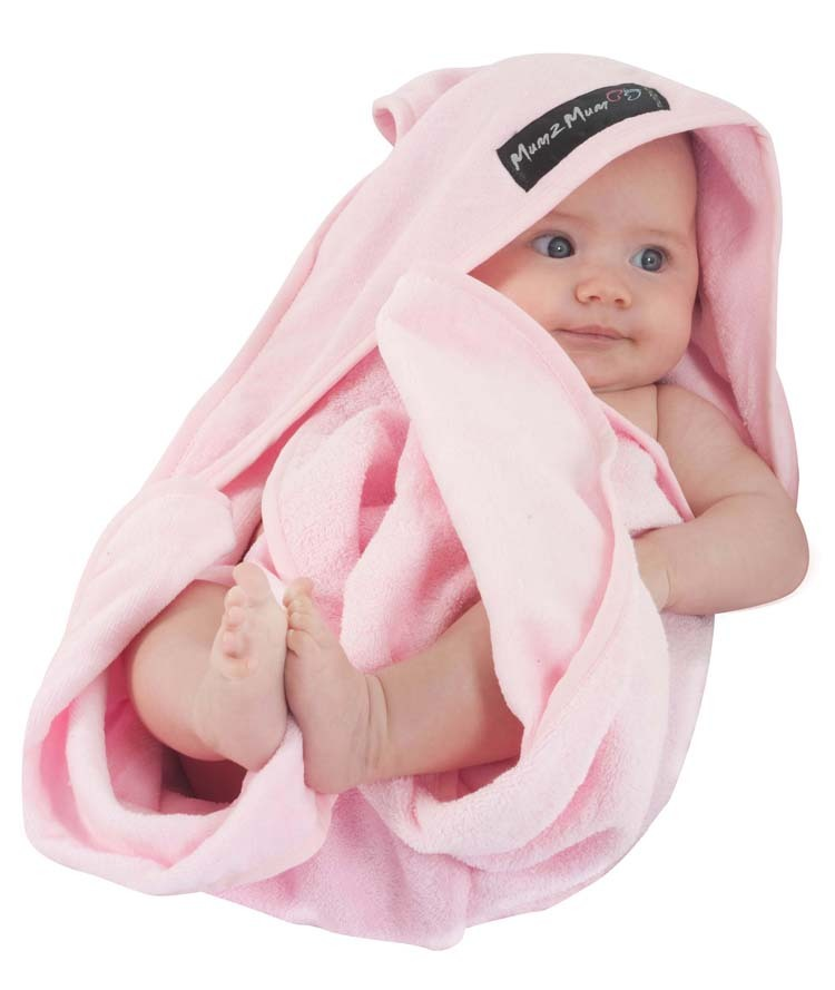 Mum 2 Mum Hooded Towel - Baby Pink image