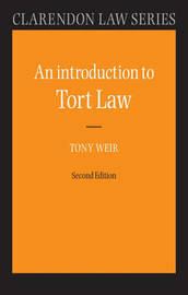 An Introduction to Tort Law by Tony Weir image