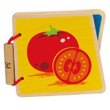 Hape: Vegetables Wooden Baby Book
