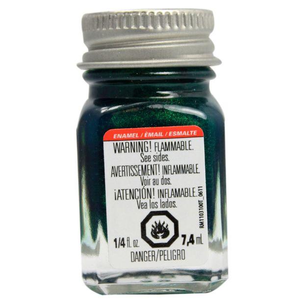 Testors: Metallic Enamel Paint - Metal Flake Green