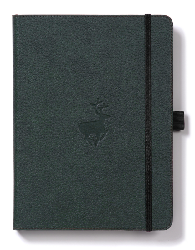 Dingbats Wildlife: A5 Green Deer Notebook - Dotted