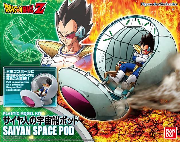 Dragon Ball: Saiyan Spaceship Pod - Model Kit