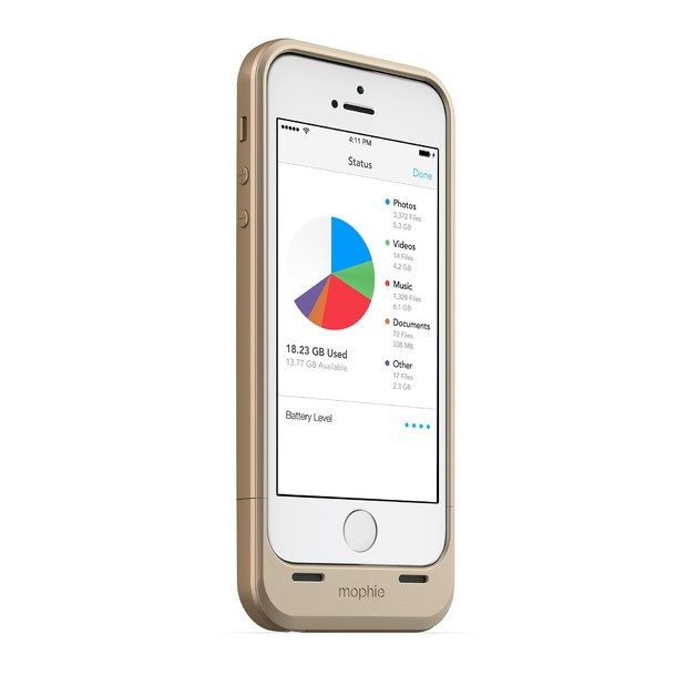 reputable site 4f327 20fbe 32GB Mophie Space Pack iPhone 5/5S Battery Case (Gold) | at Mighty ...