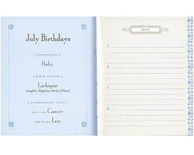 Jane Austen Birthday Book by Potter Style