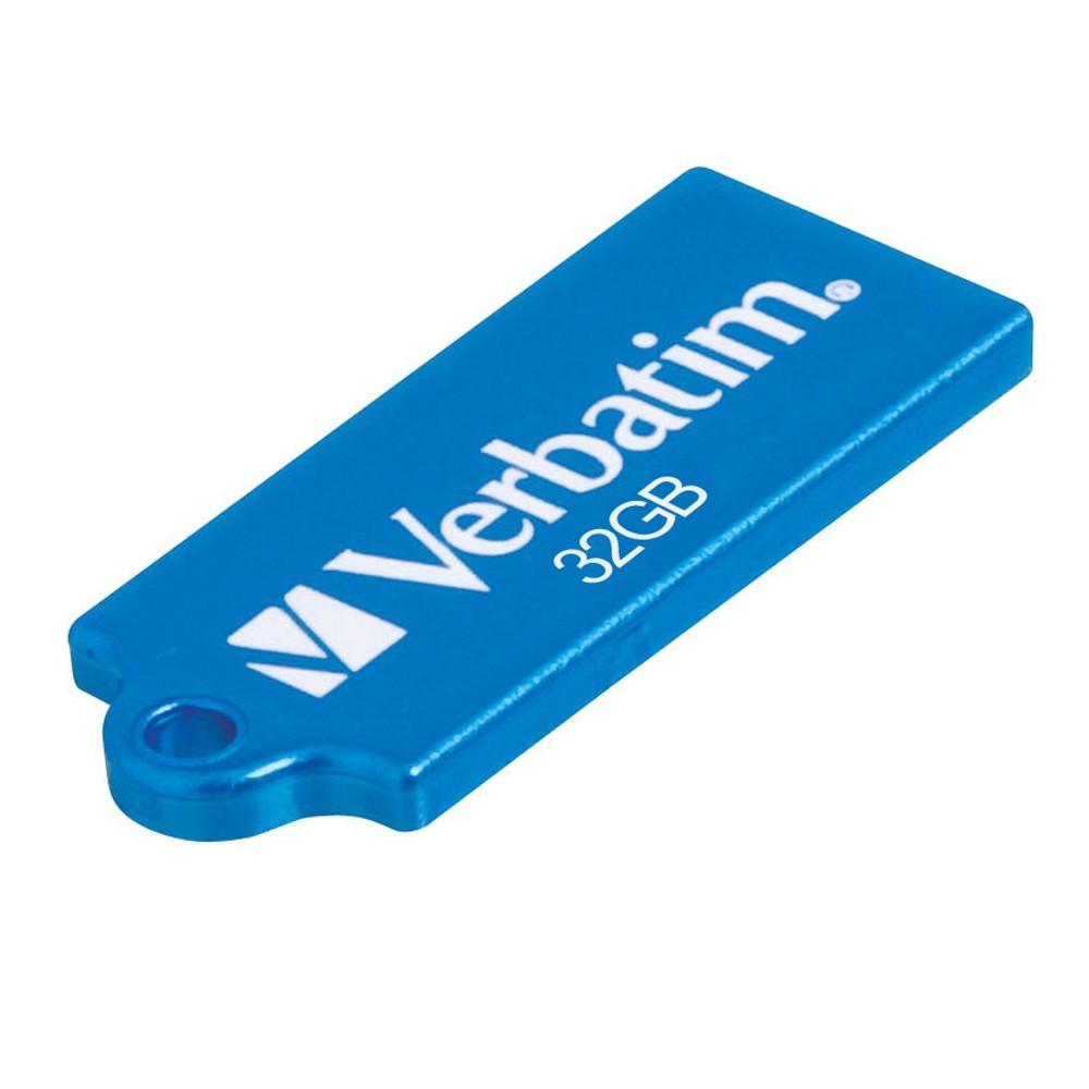 Verbatim Store'n'Go Micro USB Drive - 32GB (Caribbean Blue) image
