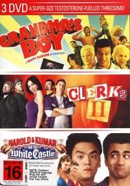 Grandma's Boy / Clerks II / Harold And Kumar Go To White Castle (3 Disc Set) on DVD image