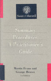 Summary Judgment: A Practitioner's Guide by George Brown image