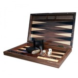 "Dal Rossi Backgammon 15"" Walnut Burl"