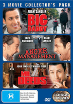 Big Daddy / Anger Management / Mr Deeds - 3 Movie Collector's Pack (3 Disc Set) on DVD