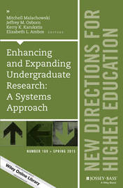 Enhancing and Expanding Undergraduate Research: A Systems Approach