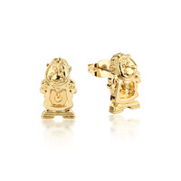 Disney Beauty and the Beast Cogsworth Studs - Gold