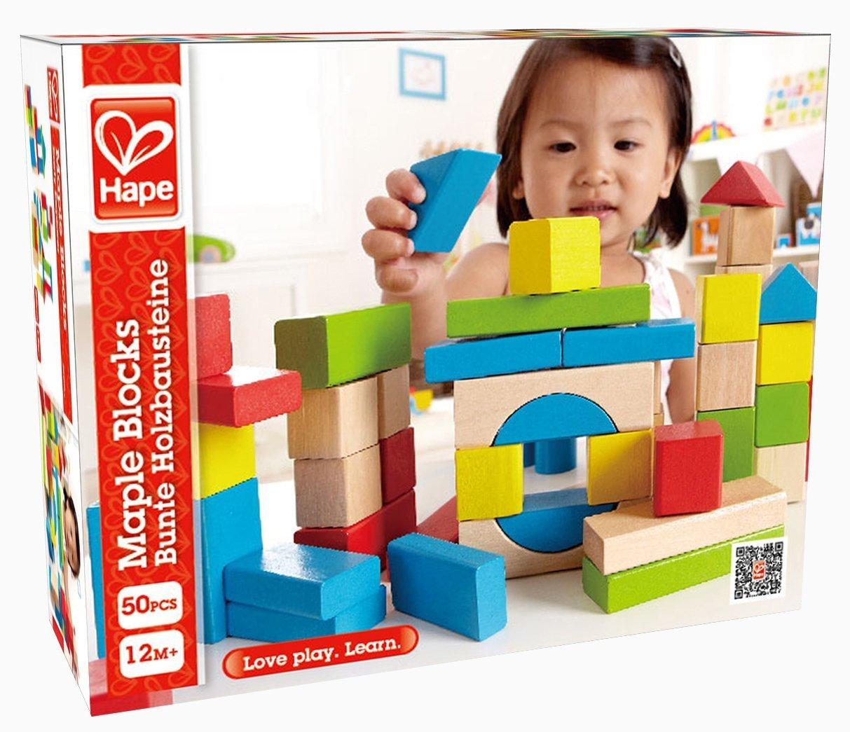 Hape: Maple Wood Blocks Set - 50pc image