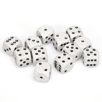 Chessex: D6 16mm Speckled Dice - Arctic Camo