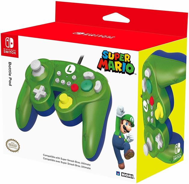 Nintendo GameCube Controller Super Smash Bros Edition (Luigi) for Switch