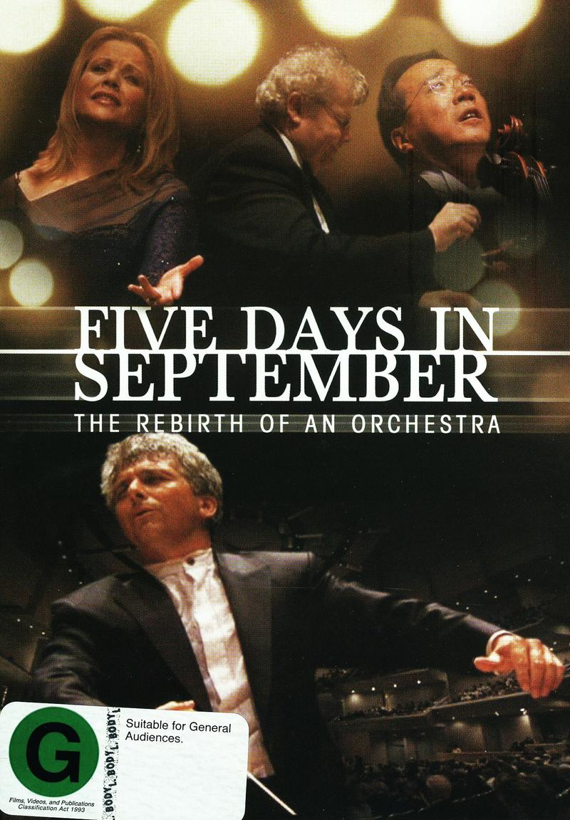 Five Days in September on DVD image