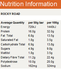 Horleys Carb Less Crunch Bars - Rocky Road (12 x 50g Pack)