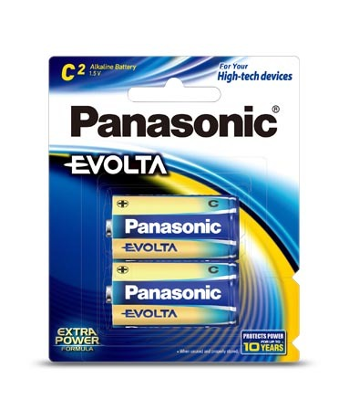 Panasonic Evolta C Batteries - 2 Pack