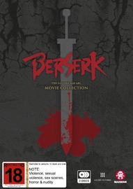 Berserk: The Golden Age Arc Movie Collection DVD