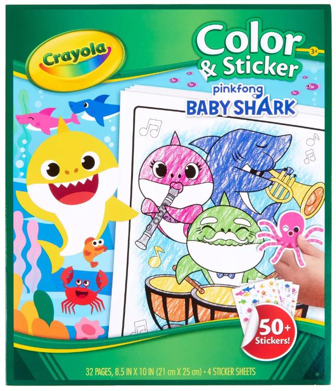 Crayola: Color & Sticker Book - Baby Shark image