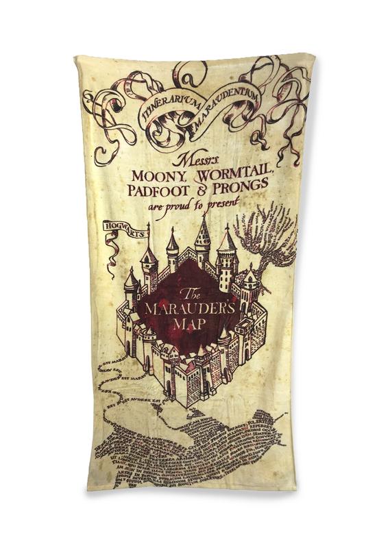 Harry Potter Maurauder's Map Beach Towel